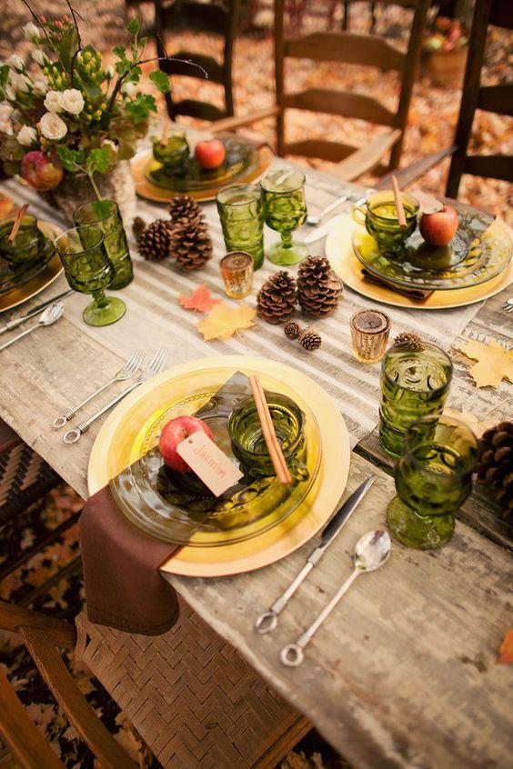 Table d automne tables and mise en place de la