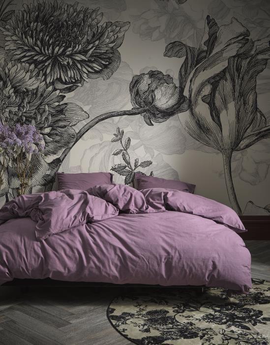 Slaapkamer Ideeen Lila.Essenza Guy Dekbedovertrekset Effen Dusty Lilac In 2020 Luxe
