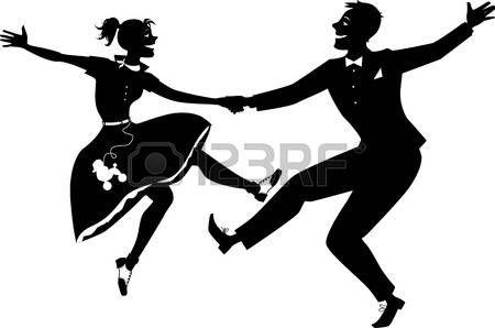 La Silhouette De Twist Pochoir Silhouette Dessin Chat Facile Couple De Danseurs