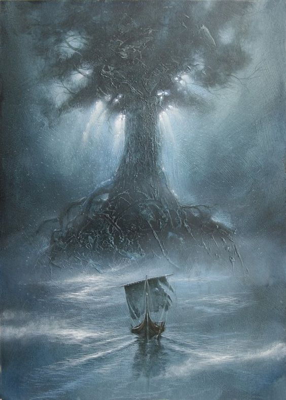 Yggdrasil - Norse Tree of Life - Odin had himself hung on Yggdrasil for 9 days and nights - he suffered greatly and ransomed his right eye in order to obtain the Norse Runes and their wisdom...