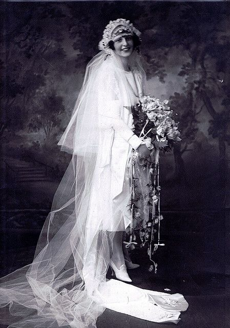 Bridal portrait, 1920s.