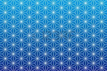 Background Material wallpaper  (A pattern Japanese style of hemp leaves) photo