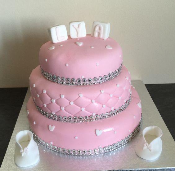 #cake #baptême #chausson
