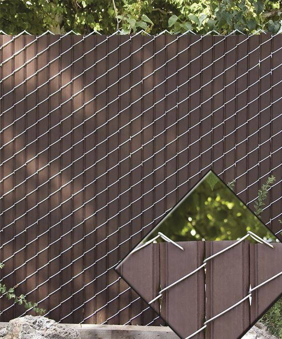 Option Lock Privacy Slats For Chain Link Fence Gardening