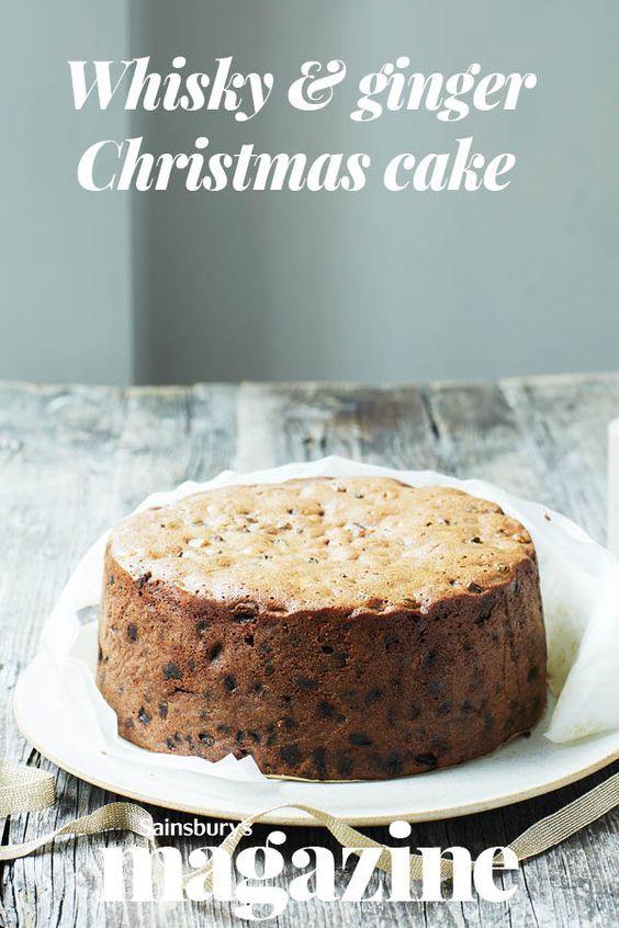 Whisky & ginger Christmas cake