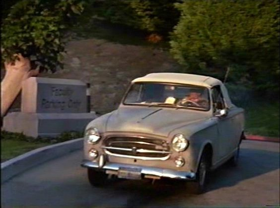 While on duty, Columbo does not drive an official LAPD car; he prefers to drive his own car, a French automobile, a 1959 Peugeot 403 convertible which is equipped with a police radio.