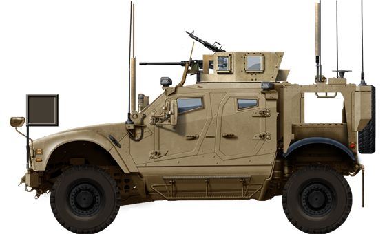 Standard Oshkosh MAT-V SXB vehicle armed with a cal.50