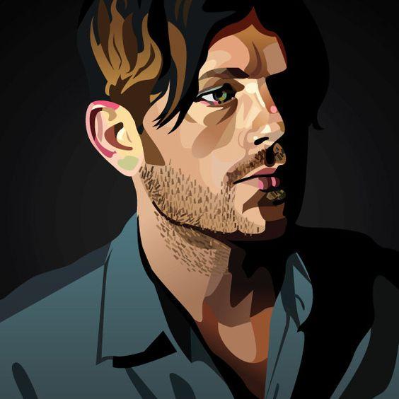 Caleb Followill Kings of Leon Graphic Illustration - Hoodzpah