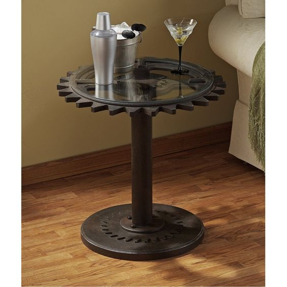 steampunk end table steampunk end table cave tables 694