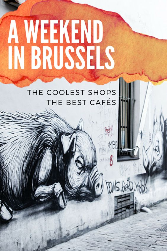 Thinking about a European weekend getaway? What about a city trip to Brussels? I found some amazing cafés, shops and cool things to see! I especially LOVED Brussels street art scene! #brussels #belgium #europe