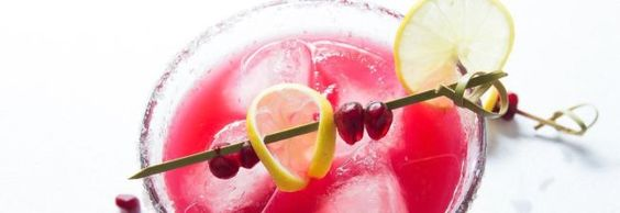 This festive Pomegranate Margarita from scratch is a perfect holiday cocktail! It is made from 5 ingredients - none of which is neon coloured margarita mix.