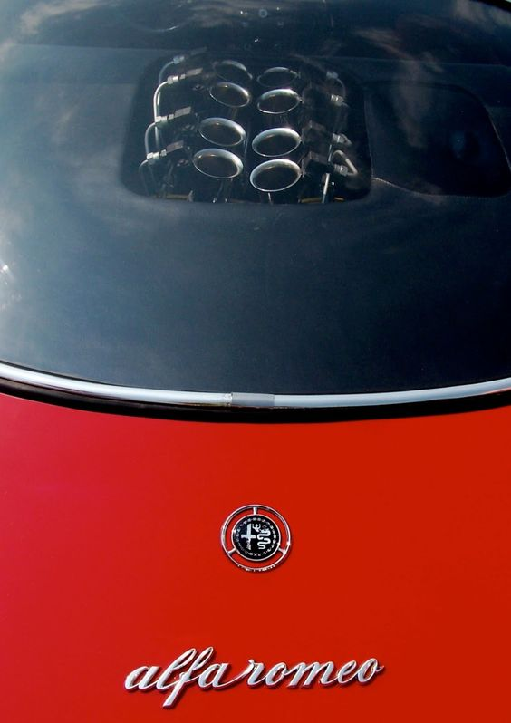 Alfa 2.0 liter V8 naturally aspirrated engine (produces 270 hp @ 10.000 RPM!)  Alfa Romeo Tipo 33 Stradale