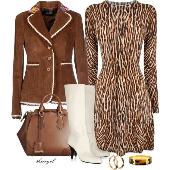 """Dress, Blazer And Tall Boots Contest"" by sherryvl on Polyvore"