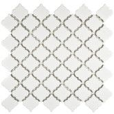 "Found it at Wayfair - Pharsalia 2"" x 2.5"" Porcelain Mosaic Floor and Wall Tile in Glossy White"