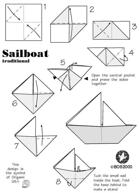 Bateau Simple En Origami #1