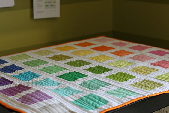 Color Wheel Quilt with Kona Bright Palette Charm Pack by anythingpretty, via Flickr