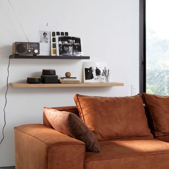 Prateleira de parede em placa de madeira, 60 cm, tulsa Pequenos Preços | La Redoute