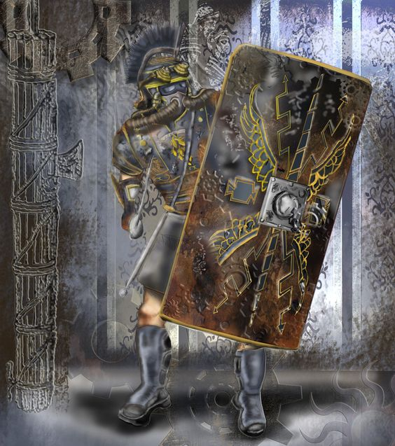 SteamPunk Style Roman Centurion  Adobe Photoshop CS5 and Corel Painter 12