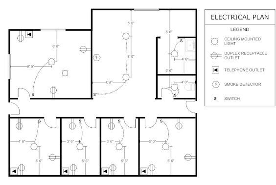 sample office electrical plan