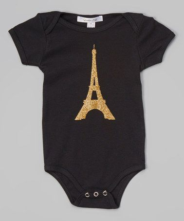 This Black & Gold Eiffel Tower Bodysuit - Infant by Million Polkadots is perfect! #zulilyfinds