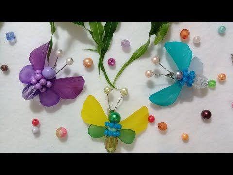 Membuat Souvenir Sendiri Bros Kupu Dari Mote Butterfly Brooch