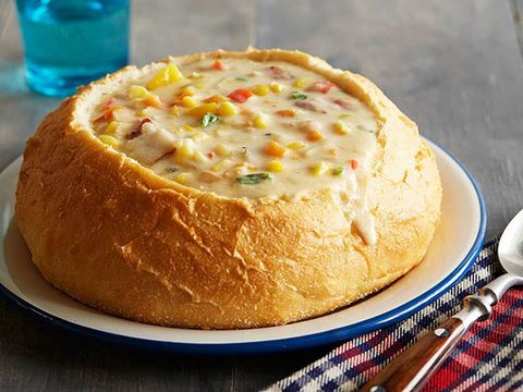 Ree's Corn and Cheese Chowder, just watched her make this and it looks amazing!