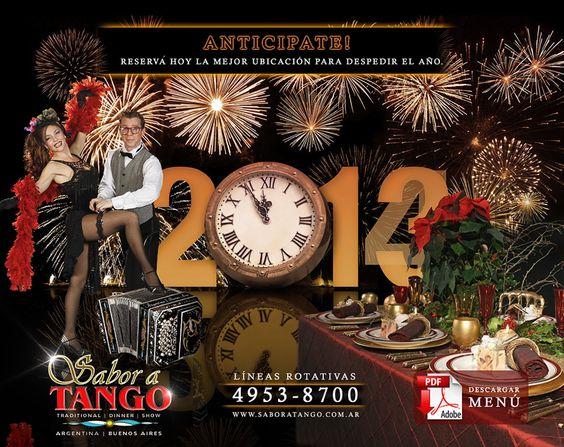 Fin de año 2013/14 en Sabor a Tango - Buenos Aires -Argentina. Dinner Tango Show