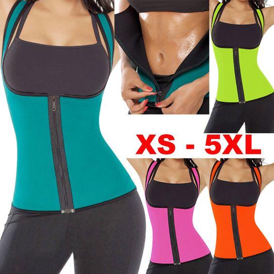 plus size women sweat enhancing waist training corset