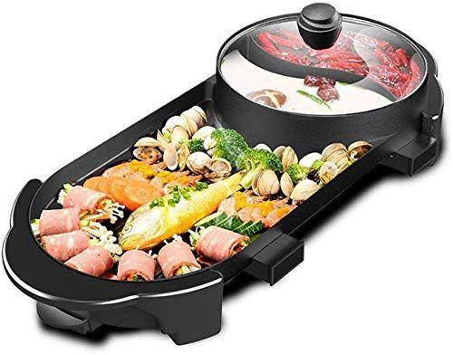 New Seaan Electric Grill Indoor Hot Pot Multifunctional Indoor Teppanyaki Grill Shabu Shabu Pot Divider Separate