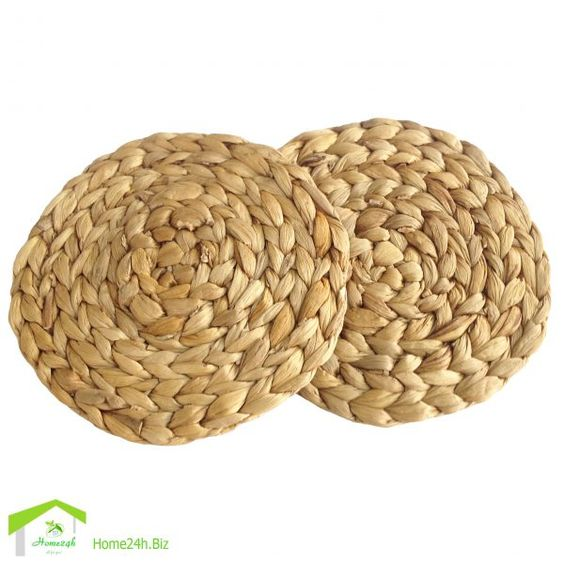 Water Hyacinth Round Placemat 20cm Seagrass Handmade Mat On Table