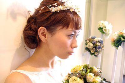 お礼と当日のヘアスタイルの画像   pikku onni ... wedding!