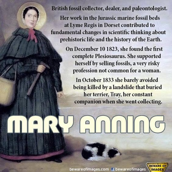 British paleontologist and fossil hunter Mary Anning was born in 1799.