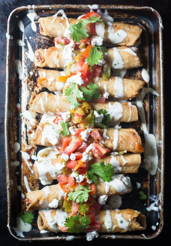 Paleo King Ranch Chicken Flautas! What's better than savory chicken, hatch peppers and #dairyfree cream cheese, rolled in fresh #grainfree tortillas and deep fried to perfection? Nothing...there's nothing better.