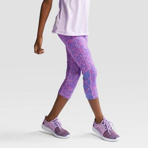 C9 Champion Girls Printed Lattice Capri Leggings Girls Activewear Girls Sports Clothes Girls In Leggings