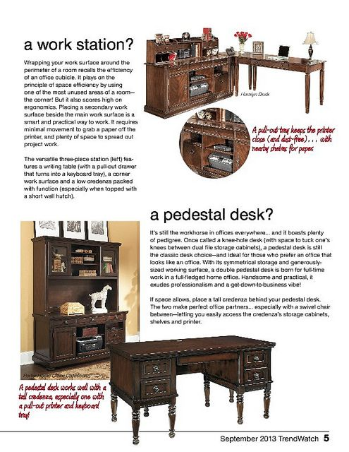 September TrendWatch Work Station Pedestal Desk Home Office Desk Home Office Pinterest