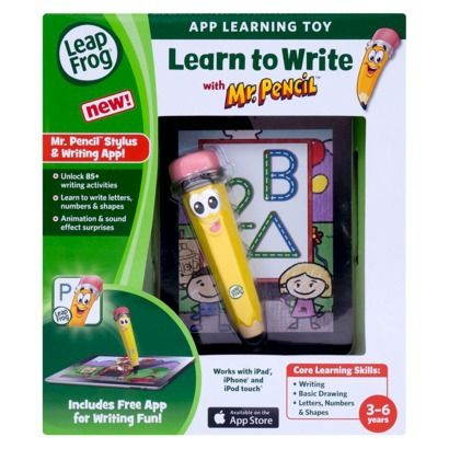 LeapFrog Learn to Write and Creative Thinking with Mr. Pencil Stylus & Writing App #Colorforms #Creative