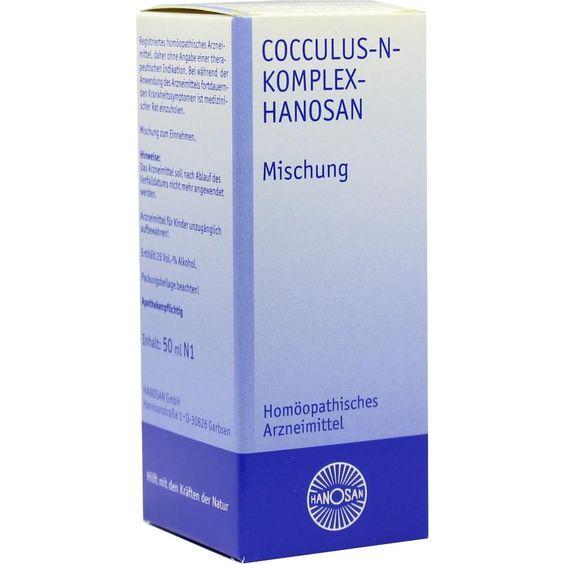 COCCULUS N Komplex Hanosan flüssig:   Packungsinhalt: 50 ml Flüssigkeit PZN: 03752114 Hersteller: HANOSAN GmbH Preis: 7,33 EUR inkl. 19 %…