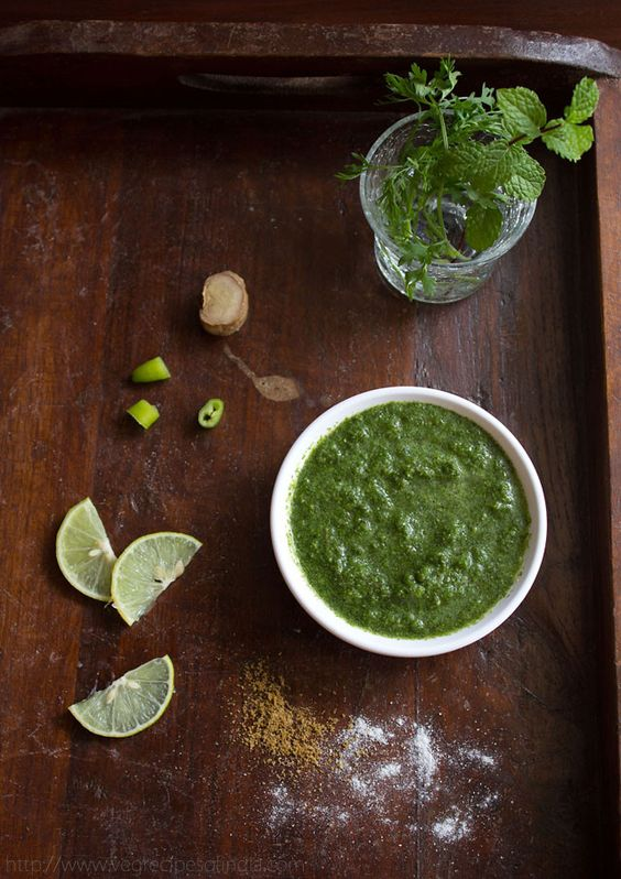 Mint Coriander Chutney   Veg Indian Recipes   healthy, vegan (This will be to go with the pakora.)