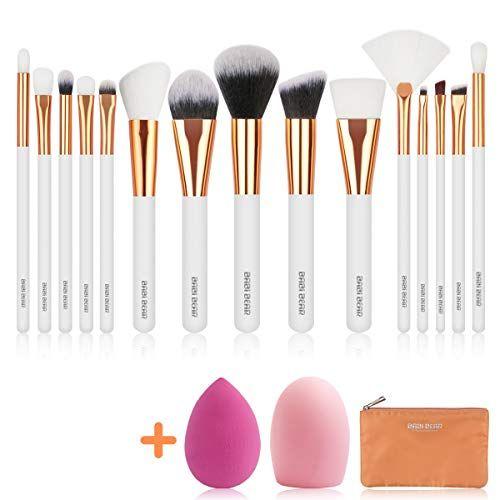 Babi Bear 15 Pcs Makeup Brushes Set Premium Synthetic Kab Https Www Amazon Com Dp B07 Makeup Brush Set Oval Makeup Brush Set Makeup Brush Set Professional