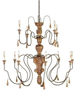 Mansion Chandelier - Curry and Co Curreycodealers.com Master bedroom