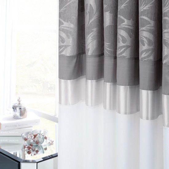 Black parisian eyelet curtain collection dunelm house damasks pencil and curtains on