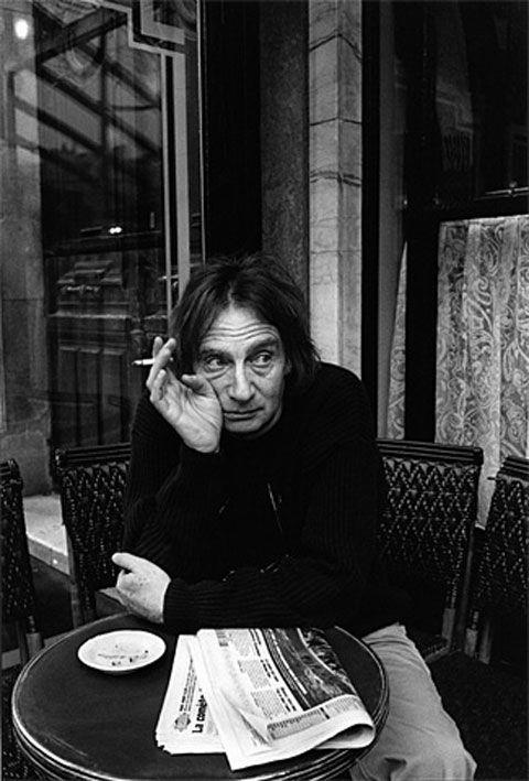 Jeanloup Sieff at the Café Flore, Paris