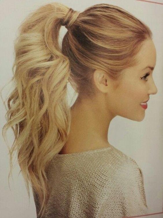 14. #volumineuse queue de #cheval - 19 Ponytails #gonflés à Pep up Your Style... → Hair