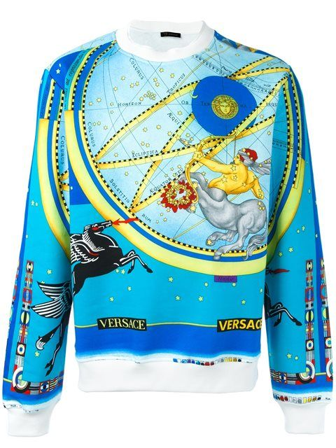 VERSACE 'Horoscope' sweatshirt. #versace #cloth #sweatshirt
