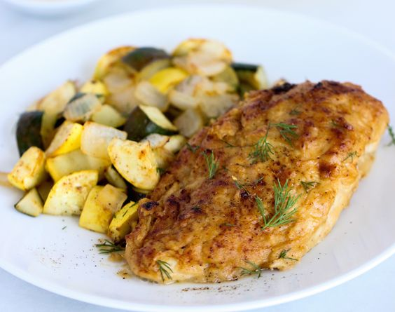 If you're yearning for juicy baked chicken, you need to try this recipe for baked hummus-crusted chicken. Lean chicken breast is kept moist in a creamy hummus shell, which adds flavor, fiber and protein. It's served over roasted zucchini but you can also sub in your favorite roasted veggies instead. Make this for dinner, and …