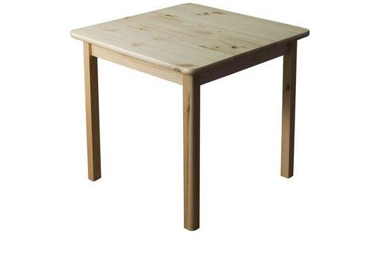 Tisch Kiefer massiv Vollholz natur 002 (eckig) - Abmessung 75 x 60 x 60 cm (H x kaufen bei Hood.de