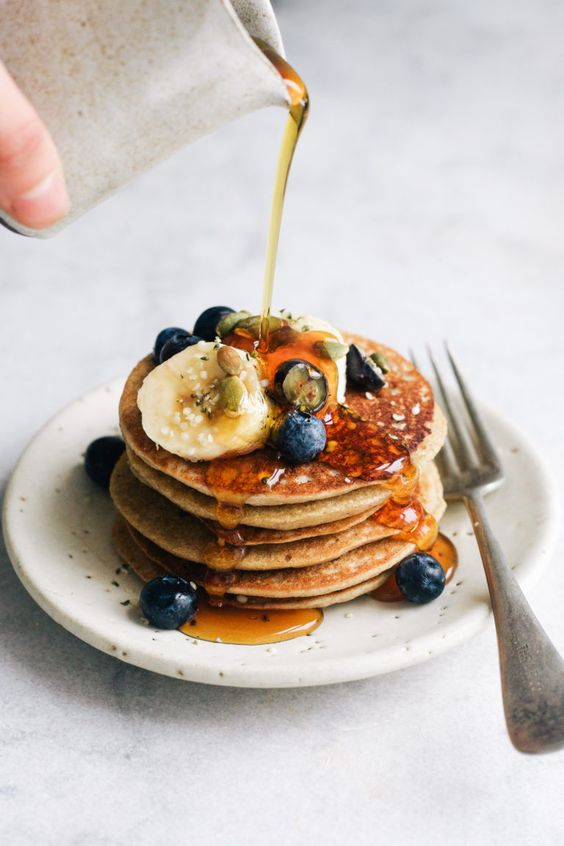 BLENDER BUCKWHEAT BANANA PANCAKES- WHOLEHEARTEDEATS