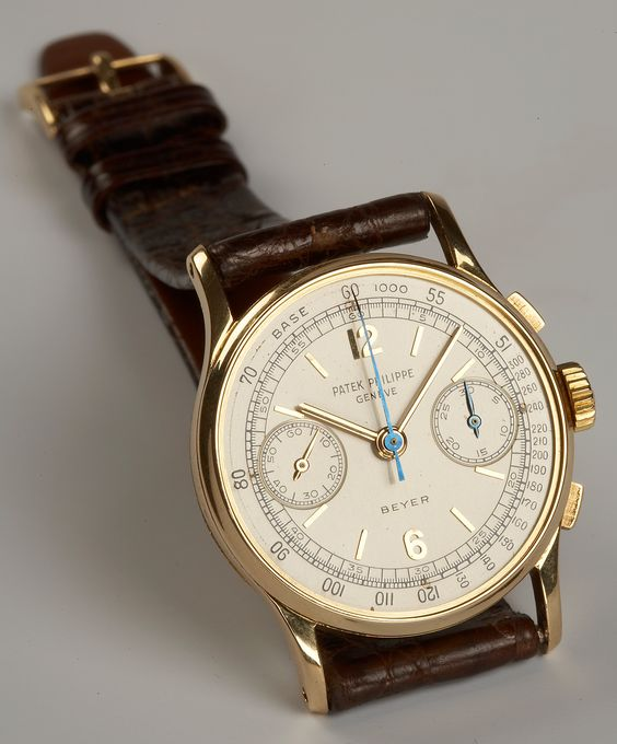 #Watch with #Style -- #PatekPhilippe chronograph ref. 130 for Beyer Jeweller and Museum - 1959