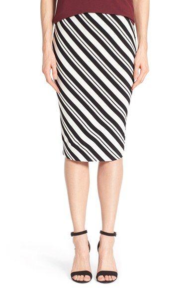 Vince Camuto 'Arrow Stripe' Midi Tube Skirt