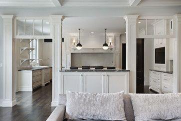 Silly Half Wall Open Kitchens Kitchen Designs And Kitchen White